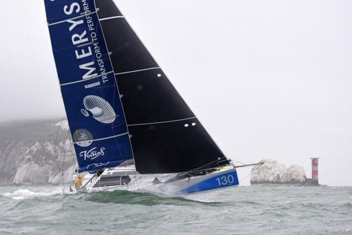Normandy Channel Race leaders at the Needles