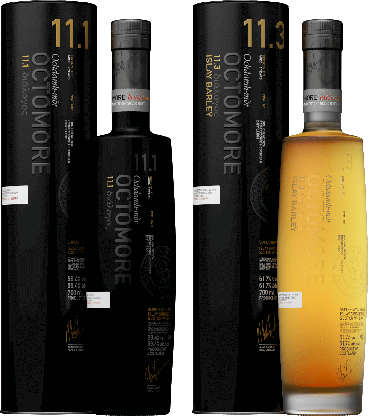 Octomore 11.1 & 11.3