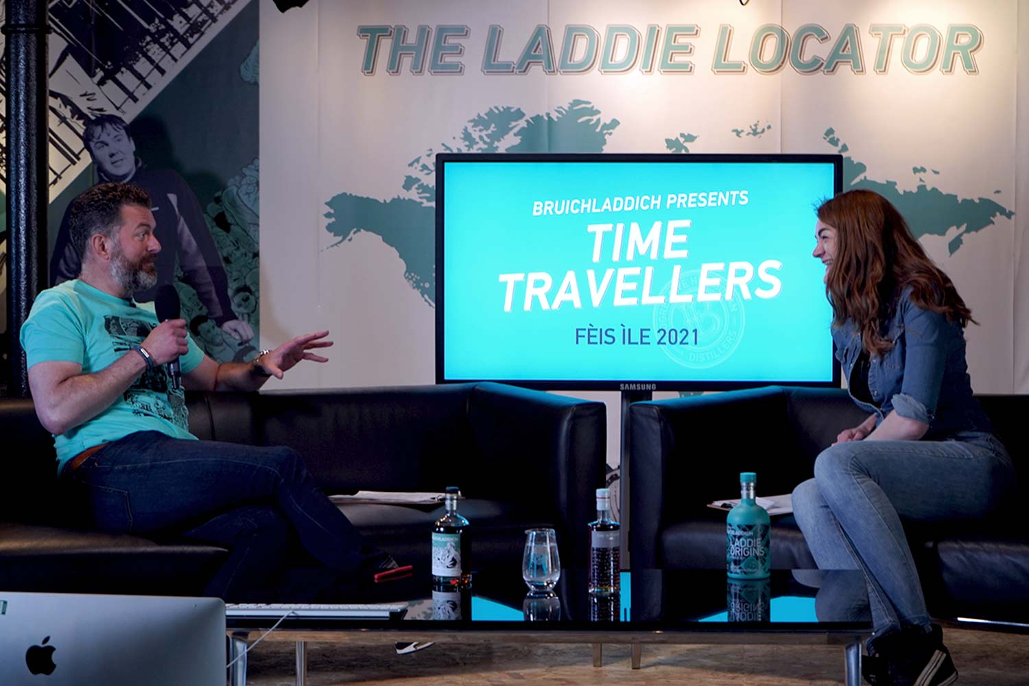 Douglas Taylor Christy McFarlane in the time travellers studio
