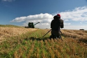 Harvesting the Ballinaby barley fields