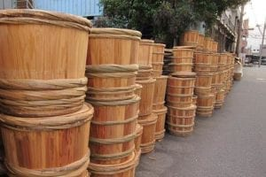 Traditional Japanese Taru Barrels, courtesy of Guide Japan